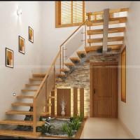 BLS15 Balustrada din sticla cu lemn