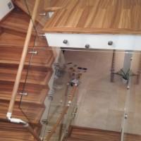 BLS-01 Balustrada din sticla cu lemn