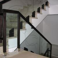 BLS-04 Balustrada din sticla cu lemn