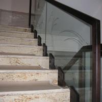 BLS-09 Balustrada din sticla cu lemn