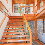 BLC-10 Balustrada din lemn cu cablu din inox
