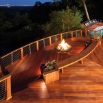 BLC-12 Balustrada din lemn cu cablu din inox