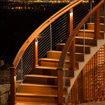BLC-13 Balustrada din lemn cu cablu din inox