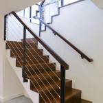 BLC-18 Balustrada din lemn cu cablu inox