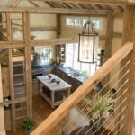 BLC-2 Balustrada din lemn cu cablu din inox