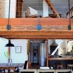 BLC-20 Balustrada din lemn cu cablu din inox