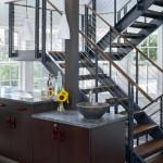 BLC-3 Balustrada din lemn cu cablu din inox
