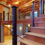 BLC-8 Balustrada din lemn cu cablu din inox
