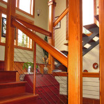 BLC-9 Balustrada din lemn cu cablu din inox