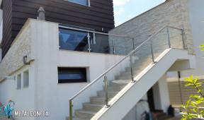 balustrada sticla inox pitesti metalconfex.ro