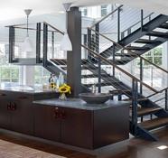 balustrada din lemn cu cablu din inox